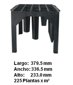 Mesa para tubetes de 25 cavidades.